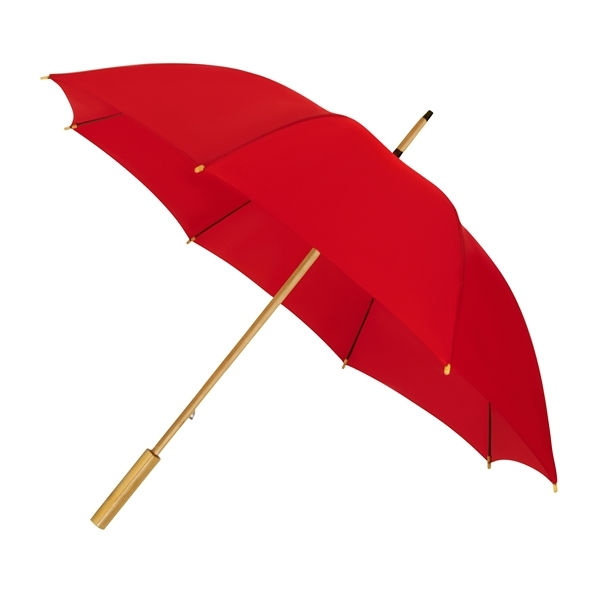 ECO by IMPLIVA, bamboe, windproof, Ø102 cm, rood