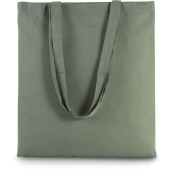 Basic shopper dusty light green one size