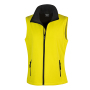 Bedrukbare Soft Shell Bodywarmer Dames XXL Yellow/Black