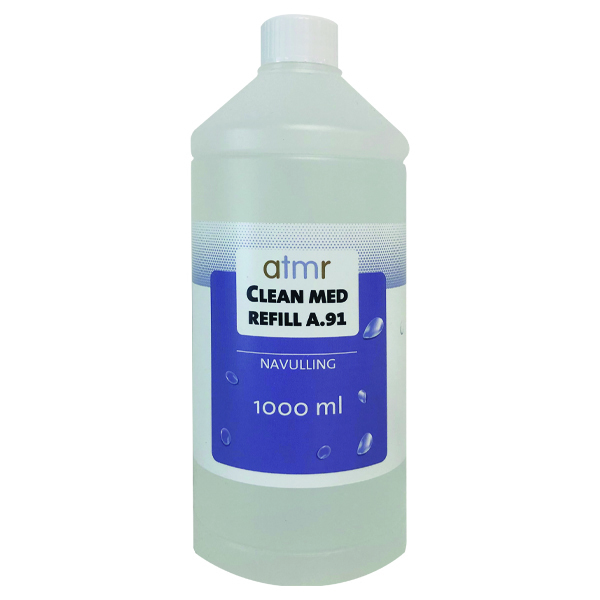 AtmR CLEAN MED A.91 zuildispenser navulling 70% alcohol (1000 ml)