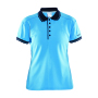 Noble polo pique shirt wmn aqua/navy xxl