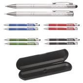 Ebony touch pen set touchpen en vulpotlood