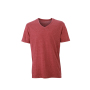Men's Heather T-Shirt wijnrood-melange