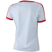 Ladies` Flag-T - wit/rood