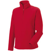 1/4 zip outdoor fleece classic red xl