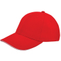 Brushed Twill Cap Rood acc. Wit