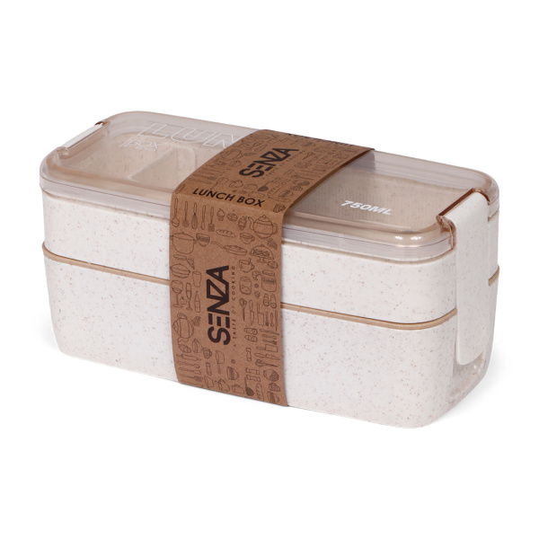 SENZA Wheat straw Lunch Box 750ml Natural