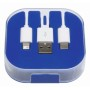 3-in-1 oplaadkabel RECHARGER - blauw