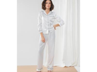 Ladies Satin Long PJ's