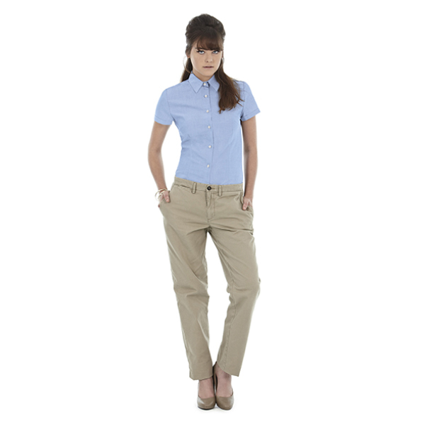 Ladies' Oxford Short Sleeve Shirt - SWO04