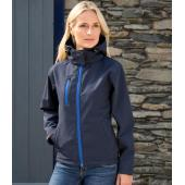 Ladies Hooded Soft Shell Jacket