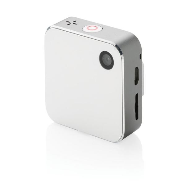 Bedrukte mini action camera met Wi-Fi, wit