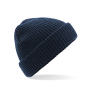 Classic Waffle Knit Beanie One Size French Navy