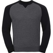 Authentic crew neck baseball sweatshirt carbon melange / black 'xs