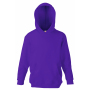 Kids Classic Hooded Sweat, Purple, 7-8jr, FOL