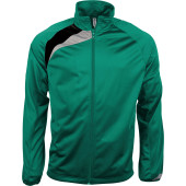 Trainingsjas dark green / black / storm grey xs