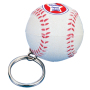 Anti-stress honkbal sleutelhanger Wit en Rood