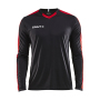 Craft Progress contrast jersey LS men black/br.red xs