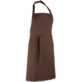 Colours bib apron brown one size
