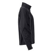 Ladies' Zip-Off Softshell Jacket - zwart/zilver