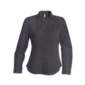 Ladies' long-sleeved cotton poplin shirt