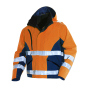 1263 Hi-Vis Jacket Layer 3  orange/Navy 3xl