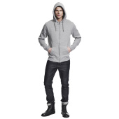 MEN'S HIGH NECK ZIP-UP HOODY