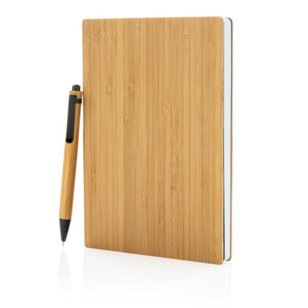A5 Bamboe notitieboek & pen set