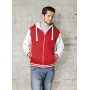 Active Zip Hoodie - Fire Red/White