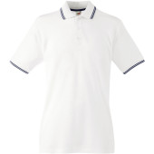 Premium tipped polo shirt (63-032-0) white / deep navy l