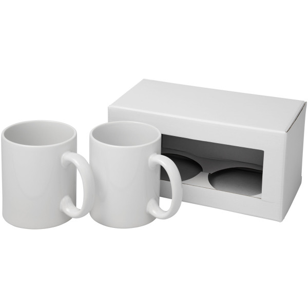 Ceramic sublimation mug 2-pieces gift set