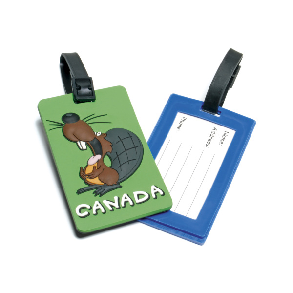 Bedrukte Soft PVC Luggage Tag