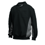 Polosweater Bicolor Borstzak 302001 Black-Grey XL