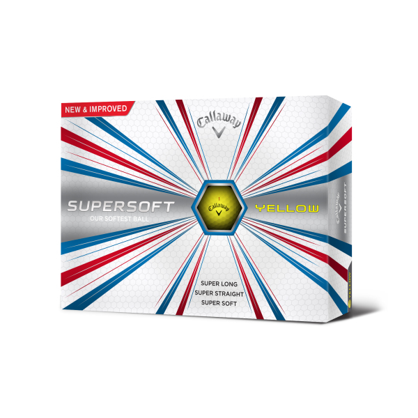 Callaway Super Soft Golfbal Geel