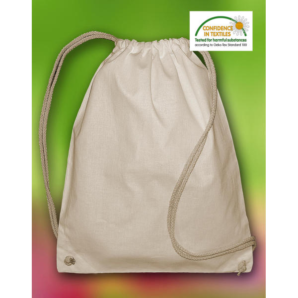 Organic Cotton Drawstring Backpack