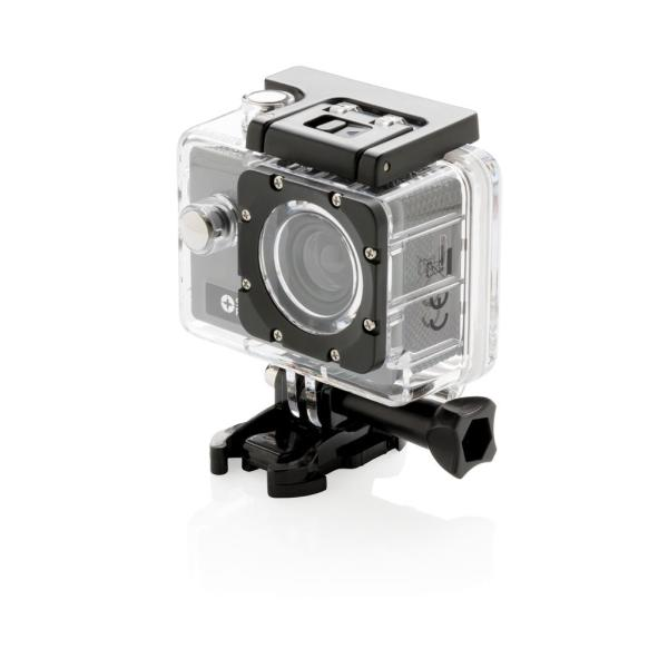 Bedrukte action camera set, grijs