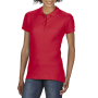 Gildan Polo Softstyle Double Pique SS for her Red XXL