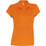 Damessportpolo orange m