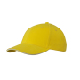 6 Panel Sandwich Cap zon-geel/wit