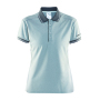 Noble polo pique shirt wmn grey melange xxl