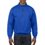 Gildan Sweater 1/4 Zip Cadet Vintage royal blue XXXL