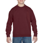 Gildan Sweater Crewneck HeavyBlend for kids maroon M