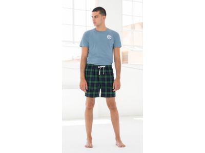 Men Tartan Lounge Shorts