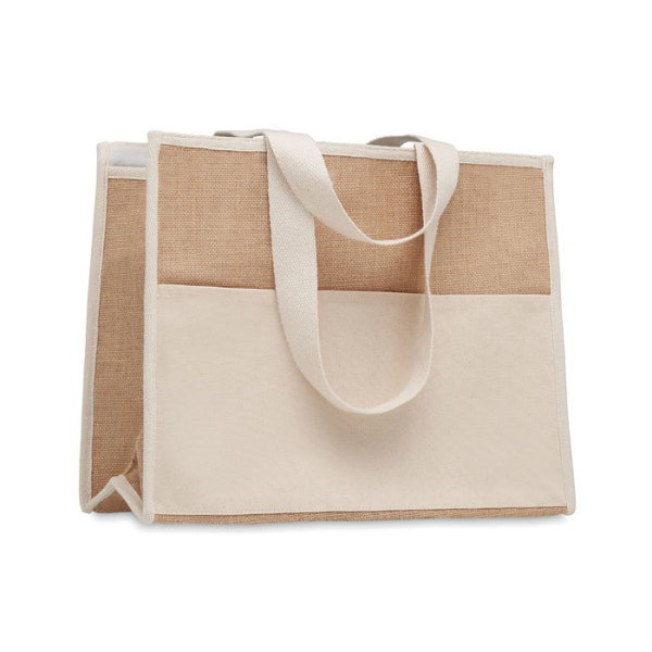 CAMPO DE GELI - Jute and canvas cooler bag