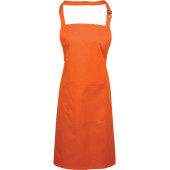 Colours bib apron with pocket orange one size