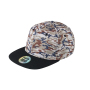 6 Panel Crown Printed Pro Cap camouflage/zwart