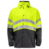PROJOB 6431 RAINJACKET HV YELLOW/BLACK XXL