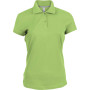 Damespolo korte mouwen lime 3xl