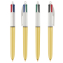 4 Colours Shine ballpen LP gold_UP white_RI black