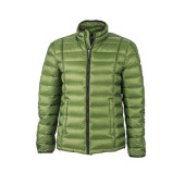 Men's Quilted Down Jacket - jungle groen/zwart